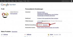 Google Multiaccount Screen 1